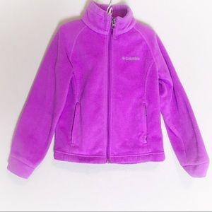 Columbia kid fleece purple zip up jacket XS